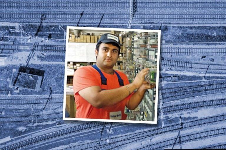 Arslan Nisar – Auszubildener Elektronik in der Betriebstechnik bei Balfour Beatty Rail