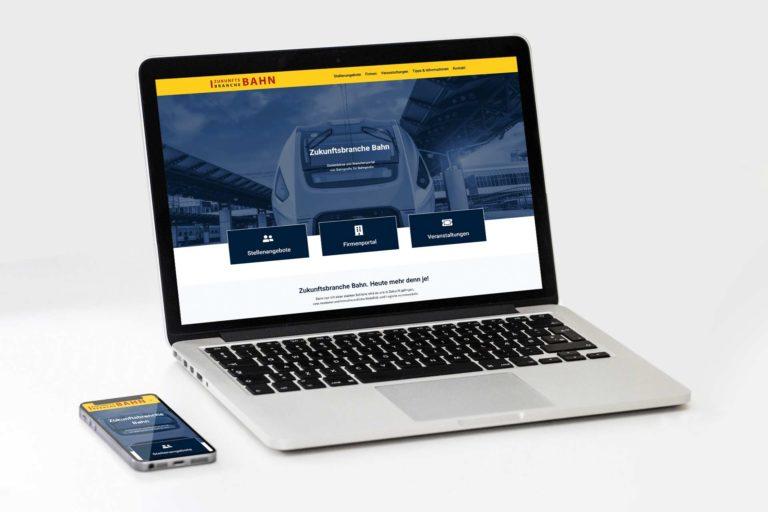 Zukunftsbranche Bahn mit neuem Online-Auftritt